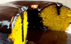 Bolo de Cenoura com Calda de Chocolate – Super Gostoso