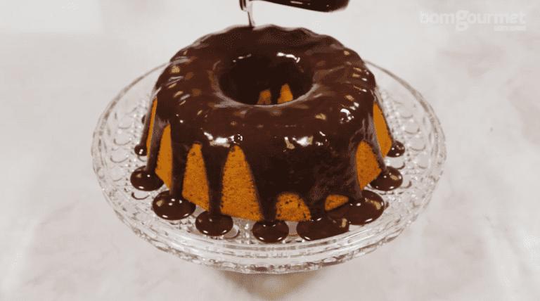 bolo de cenoura pequeno
